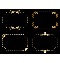 gold frames with arabic elements - set vector image vector image
