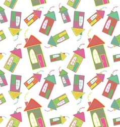 Seamless background of houses vector image vector image