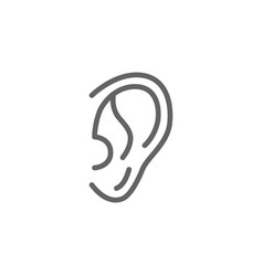 simple ear line icon symbol and sign vector image