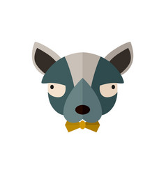 Toy terrier head icon in flat design vector