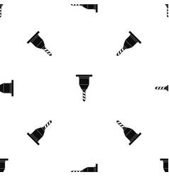 drill bit pattern seamless black vector image