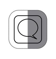 Fugure sumbol chat bubble icon vector