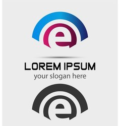 Letter E Logo Design Creative Symbol of letter E vector image vector image