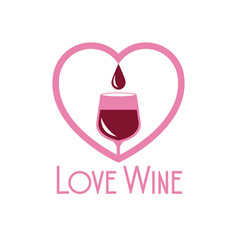 love wine glass cup heart image vector image vector image