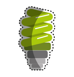 sticker green save bulb energy icon vector image vector image