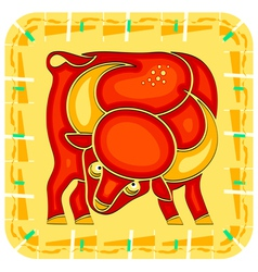 Year of the ox chinese horoscope animal sign vector