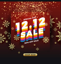 1212 shopping day sale banner background vector image