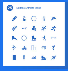 25 athlete icons vector