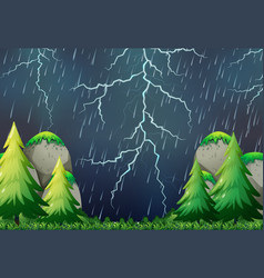 a thunderstorm nature scene vector image