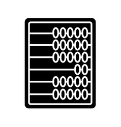 Abacus glyph icon vector