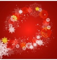 Abstract christmas frame with snowflakes vector