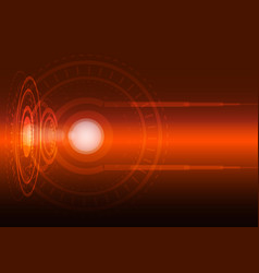 abstract digital technology orange background vector image