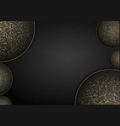 Abstract luxury dark overlap dimension background vector