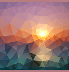 abstract triangular background bright polygon vector image