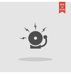 alarm bell Modern design flat style vector image