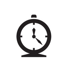 Alarm clock - black icon on white background vector
