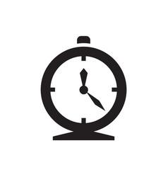 Alarm clock - black icon on white background vector