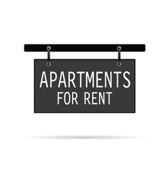 Apartments for rent sign vector