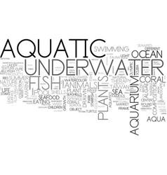 aquatic word cloud concept vector image
