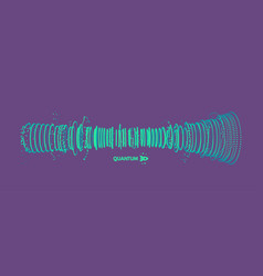 Array with dynamic particles sound wave 3d vector