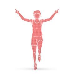 Athlete runner a man runner running the winner vector
