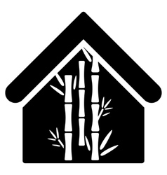 Bamboo House Flat Icon vector image