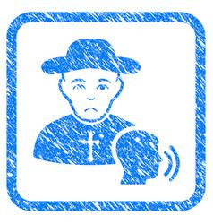 Believer confession framed stamp vector