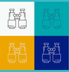 Binoculars find search explore camping icon over vector