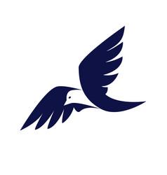Bird business logo vector