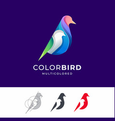 bird colorful logo vector image