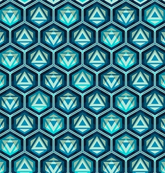 Blue grid seamless pattern vector
