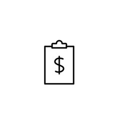 budget report icon vector image