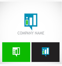 business finance stock progress logo vector image
