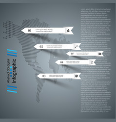 business paper infographic maps icon vector image