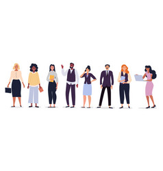 business team with diverse people vector image