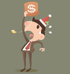 Businessman losing HNY vector image