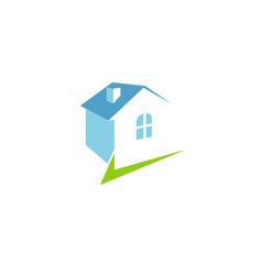 check home blue logo vector image