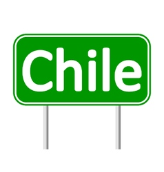 Chile road sign vector