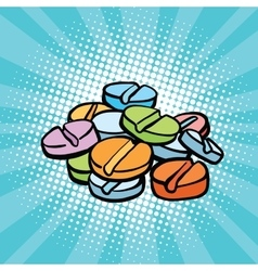 Colorful medical pills sports doping and drugs vector