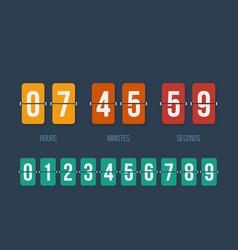 countdown clock flip counter digital timer vector image