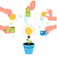 Crowdfunding money concept design vector