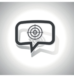 Curved aim message icon vector