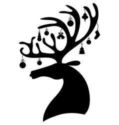 deer bauble vector image