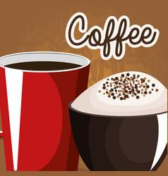 Delicious coffee shop poster vector
