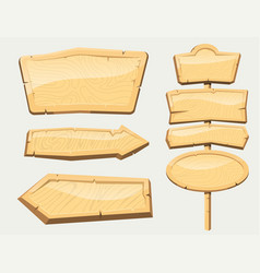 directory wooden signboard road board wood tablet vector image