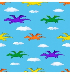 dragons in the sky vector image