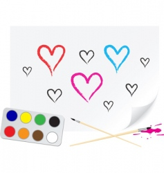 Drawing heart vector