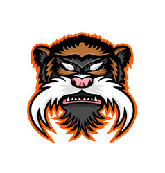 Emperor tamarin monkey mascot vector