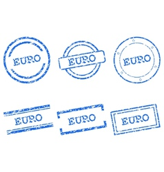 Euro stamps vector image