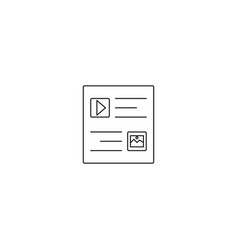 flat long shadow web window icon vector image